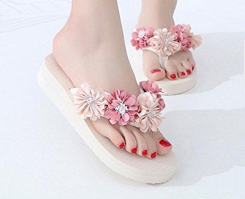 eight Flip KPHY Outer Flores Fondo Cool Wear Flops Zapatillas Seaside Grueso Thirty Cuarenta qq17St