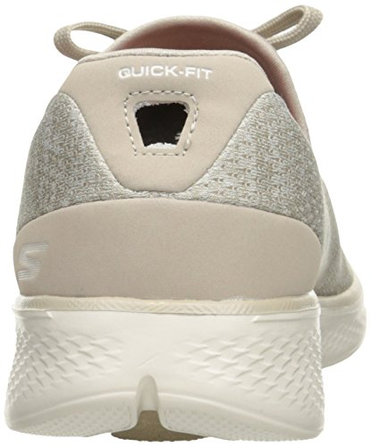 Skechers Go Walk 4 All Day Comfort Trainers Navy White Taupe