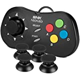 Thumbstick for NEOGEO Mini Controller - NesBull Thumbstick Cover Game Remote Joystick Cap for for NEOGEO mini Controller(4 Packs,Black)