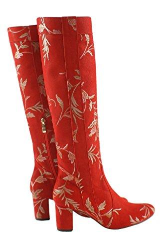BOSCCOLO Women's Kozaki Boot liscie Classic Red ffqSrdw