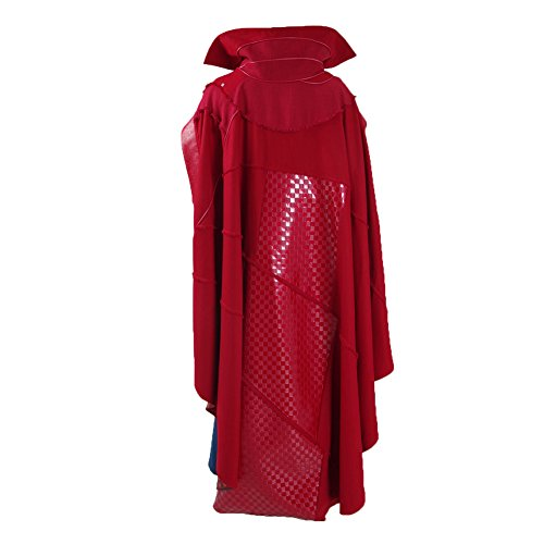 Halloween Superhero Costume Hot Movie Cosplay Party Show Full Set for Men (Small, Red Cape)