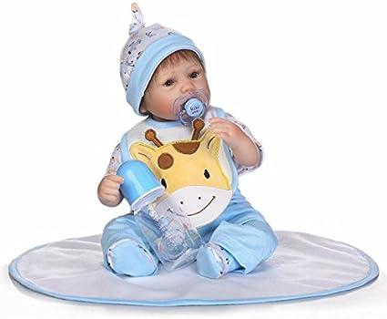 Funny House 17//42cm Realistic Real Baby Dolls Boy Soft Silicone Vinyl Doll Toy Lifelike Baby for Childrens Xmas Birthday Gift