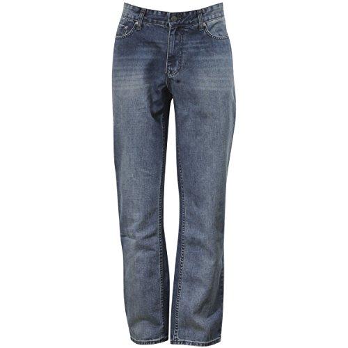 Calvin Klein Jeans Men's Slim Straight Leg Jean 2, Chalked Indigo, 33Wx32L (New Button 2 Signature)
