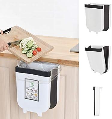 Cubos de Basura Cocina Plegable Colgante,Cubo Basura Reciclaje,Papelera de Cocina