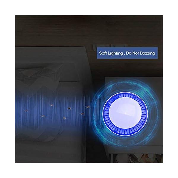Fesjoy Lampada Anti Zanzara Non Tossico USB Alimentato LED UV Tranquillamente Insetto Trappola Leggera con Ventosa… 3 spesavip