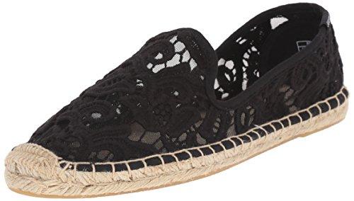 Soludos Women's Smoking Slipper, Black, 8 M (Smoking Slipper Lace)