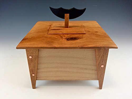 Maple and cherry box with ebony and copper