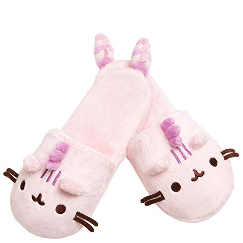 GUND Pusheen Pusheenosaurus Cotton Candy Plush Slippers, 12