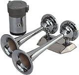 Sea-dog Line Max Air Horn Mini Trumpet Chrome 432620-1