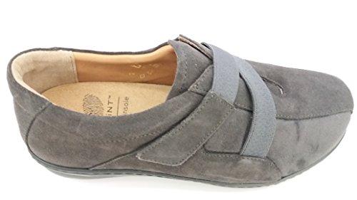 Dr.scholl Cassie Shoe Chaussure En Cuir Et Tissu Élastique Avec Semelle Amovible (37, Gris)