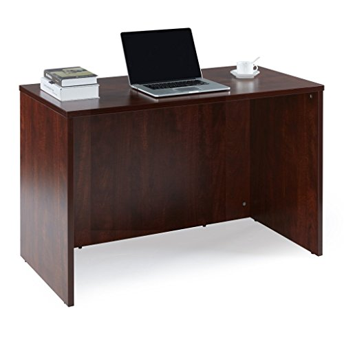 Sunon Laminate Office Desk Shell 47-inch Rectangle Computer Gaming Desk Shell with 2-Black Grommets for Cable Management (Cherry)