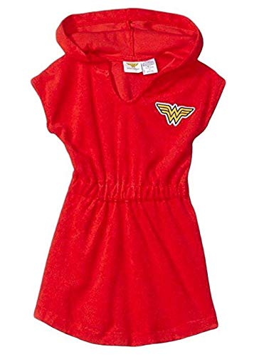(DC Wonder Woman Little Girls' DC Wonder Woman Terry Hooded Cover up (4))