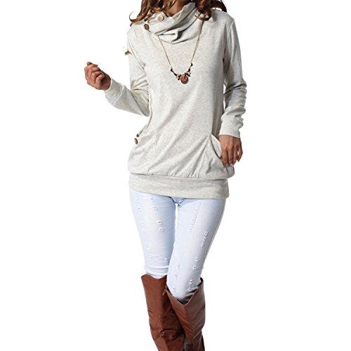 Women's Cowl Neck Sweater: Amazon.com