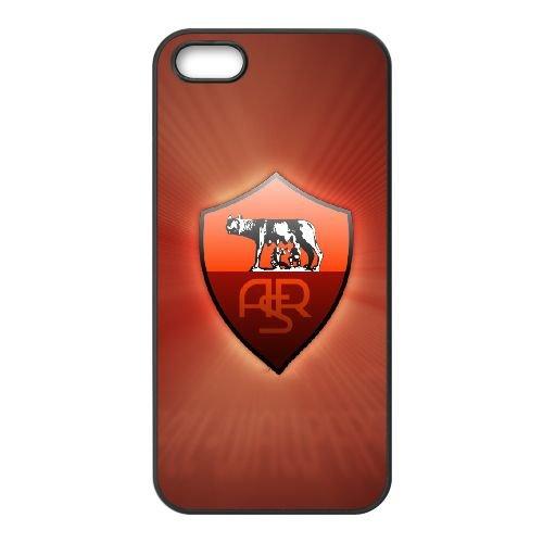 As Roma Logo 005 coque iPhone 4 4S cellulaire cas coque de téléphone cas téléphone cellulaire noir couvercle EEEXLKNBC23112