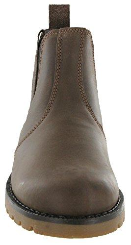 MENS WRANGLER NEWTON CHELSEA LEATHER BOOTS DARK BROWN WM142850K UK9 (EU43)