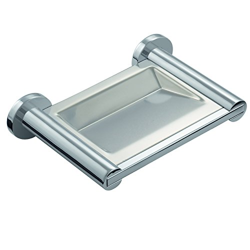 COSMIC Architect Soap Dish, Wall Mount, Stainless Steel, Chrome Finish, 6-11/16 x 1-9/16 x 4-5/16 Inches (2050132) by DAX