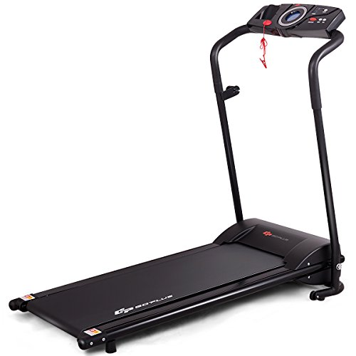 Goplus Electric Treadmill Low Noise Folding Running Jogging Walking Machine Space Saving with Display