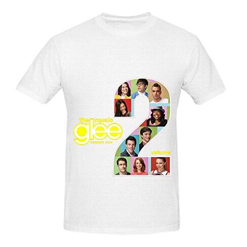 Glee Cast The Music Volume 2 Pop Mens O Neck Casual T Shirt White