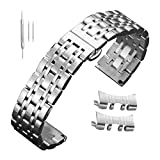 Men 12mm 14mm 15mm 16mm 17mm 18mm 19mm 20mm 21mm 22mm 23mm 24mm Stainless Steel Bands Silver Watch Straps