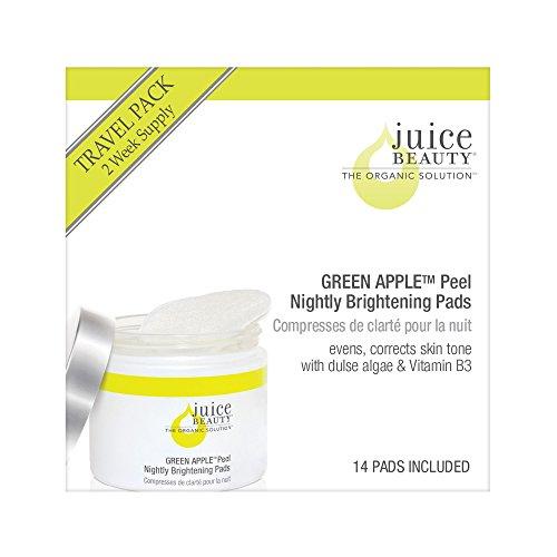 Juice Beauty Green Apple Peel Nightly Brightening Pads Travel Pack (Green Apple Peel)