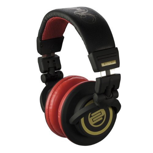 Cherry Lightweight Headphone (Reloop RHP-10 Cherry Black Professional DJ Headphones)