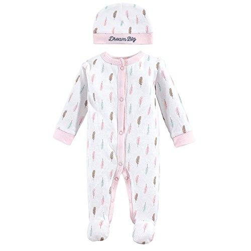 Luvable Friends Baby Sleep N Play and Cap, Feathers, Preemie