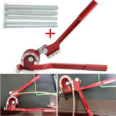 FidgetKute Tubing Tube Bender Aluminum Copper + 1/4'' 5/16'' 3/8'' 1/2″ 5/8″ Bending Tube Pipe