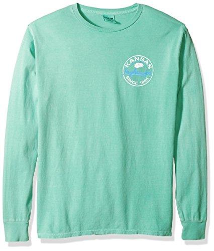 - Blue 84 NCAA Kansas Jayhawks Adult Unisex NCAA Dyed Ringspun Fashion Color Longsleeve Tee,Large,Seafoam