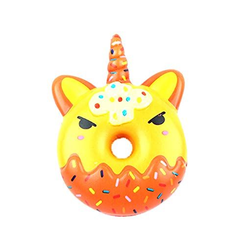 Gbell  Squeeze Toys for Stress Relief,Decorative Fun Simulation Cute Doughnut Slow Rising Cream Scented Squeeze Toyst Toy Best Gift for Kids Lovely Stress Relief Toy -