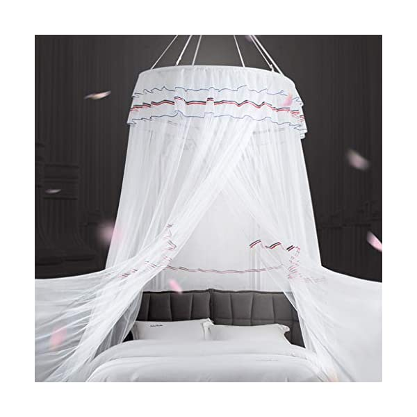 Bulawlly Hanging Letto a baldacchino, Hideaway Tenda Tettoie per Bambini Camere, Letti o culle, Nursery Sheer… 5 spesavip