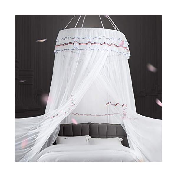 Principessa Canopy con Garza Tenda, Tenda per Lettino con zanzariera Tenda, Tenda di Cotone Naturale della Cupola della… 3 spesavip