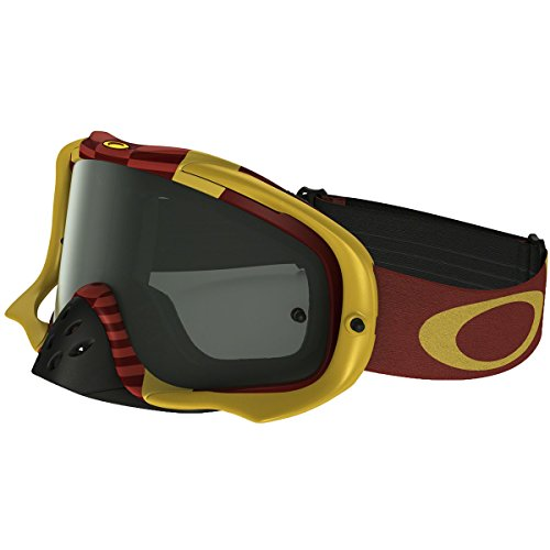 Oakley Crowbar MX Flight Series Goggles (White Frame/Dark Gray - Custom Oakley Goggles