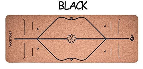 YOOMAT 5mm 183  65 cm rot schwarz Kork naturkautschuk Yoga Matte Fitness Frauen männer Pilates Gymnastik pad Kissen Indoor übung Sport matten