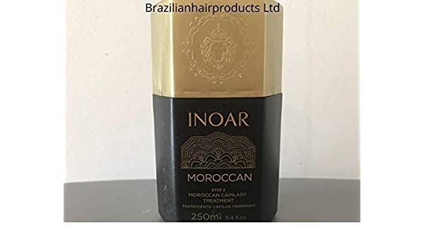 Inoar - Tratamiento de queratina brasileña marroquí para alisar: Amazon.es: Belleza