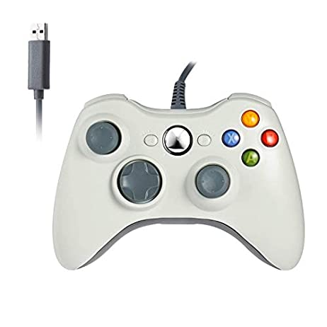 JAMSWALL Xbox 360 Game Controller Game Controller Gamepad USB Wired Shoulders Buttons Improved Ergonomic Design Joypad Gamepad Controller for Microsoft Xbox & Slim 360 PC Windows 8 1