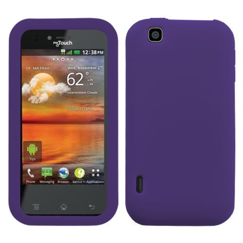 Frost Silicone Skin Case Protector Cover (Purple) for LG myTouch 4G E739 LG Maxx Touch T-Mobile (T Mobile Mytouch Lg 4g Phone Cases)