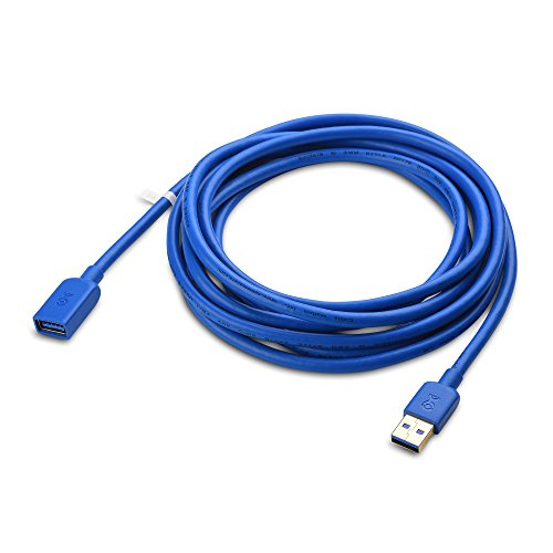 Cable Matters USB to USB Extension Cable (USB 3.0 Extension Cable/USB 3 Extension Cable) in Blue 10 Feet - Available 3FT - 10FT in Length