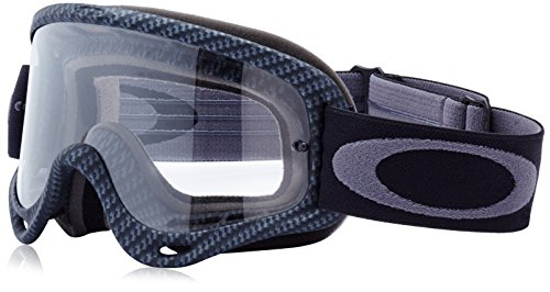 (Oakley O-Frame Graphic Frame MX Goggles (True Carbon Fiber/Clear Lens, One Size) )