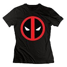 RIen Women's Deadpool Logo Head T-Shirt - Black
