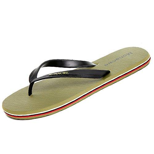 antideslizantes Chanclas libre Zapatos aire Sandalias AIHUWAI al The green Hombres Hombres Sandalias Flip Sandalias Masculinas de Sandalias Sandalias Verano OwOBvqt