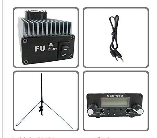 CZH FU-30A 30 vatios amplificador FM transmisor profesional 85-110 mhz 1/4 Gp Kit de antena