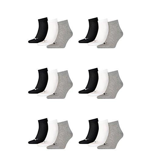 Mens Puma white amp; Socks Quarter Pair Sneaker black 882 Unisex 18 Grey Ladies 0P5wqYgY