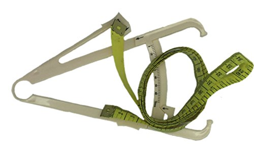 Körperfettzange Körperfettmessgerät for body fat analysis + Maßband / Schneidermaßband 150cm Boolavard