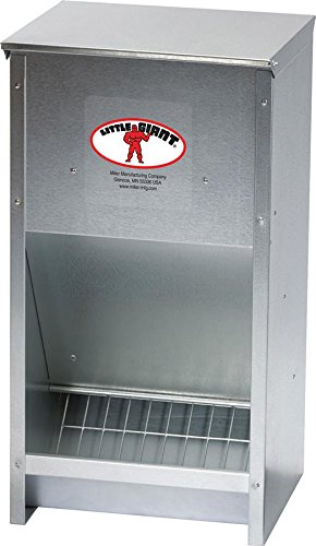 Miller 957772 Little Giant High Capacity Poultry Steel Feeder, 25 lb (Duck Feeder)