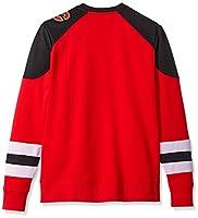 Men's Centre Long Sleeve Crew Neck Pullover Sweatshirt