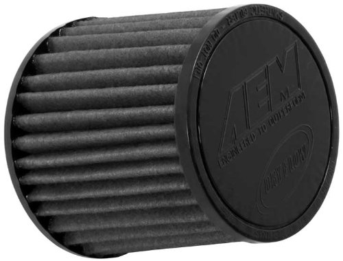 (AEM 21-202BF-OS Universal DryFlow Clamp-On Air Filter: Round Tapered; 2.75 in (70 mm) Flange ID; 5 in (127 mm) Height; 5.5 in (140 mm) Base; 4.75 in (121 mm) Top)