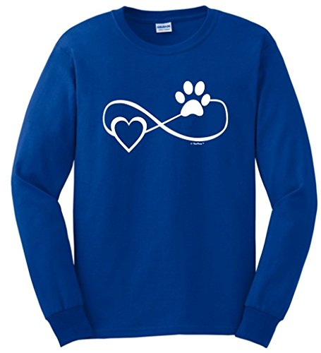 Dog Cat Lover Gift Infinite Love Infinity Symbol Long Sleeve T-Shirt Small Royal