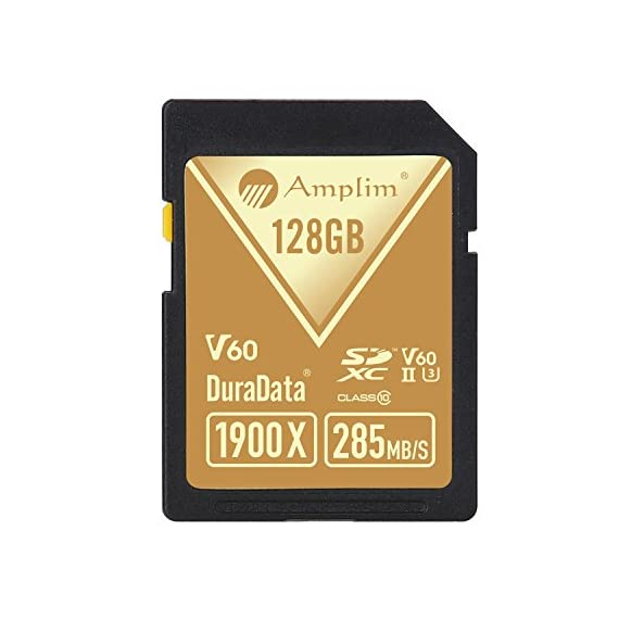 Amplim extreme high speed 32gb uhs-ii v90 sdxc sd card for 4k 8k uhd video camera camcorder 4 ultra high performance sd card: blazing speed 1900x (285mb/s) transfer rate. Twice the read speed of 1000x card. Newest sd association sd 5. 0 specs v60+ video rating provides 4k continuing shooting (other uhs-ii cards without v ratings are last generation sd 4. 0 cards). Top rated uhs-ii u3 class10 pro extreme turbo fast high capacity sd card for latest uhs-ii sdxc (sd xc) compatible cameras, accessories, usb-c sd card reader, microsoft surface book 2 and super fast 3d hdr 360 4k dslr and 3d professional photographer memory card: 32, 64 128 and 256 gig uhs-ii high capacity cards for dslr and mirrorless uhs-ii video cameras (sony, fuji, leica, nikon, olympus, panasonic, samsung). Sony alpha a9 a7 a7r mark iii sf card cyber-shot rx1r ii; fujifilm fuji x-t1 x-pro2 x-t2 gfx 50s x-h1 x-e3; leica sl type 601 m10; nikon d850 d500 fx; olympus om-d e-m5 ii om-d e-m10 ii iii pen-f om-d e-m1 mark ii; panasonic lumix dc-g9 gh5s gh5 gh4; samsung nx1; black magic ursa; support all uhs-ii devices backward compatible with uhs-i cameras (note: speed of uhs-ii card will be limited by the uhs-i sd slot): sony cyber-shot dsc w800 w830 dsch300 alpha a7r ii dsc-rx10 iv a6500 a9 a6300 a99 ii; canon powershot sx720 sx730 sx530 hs elph 180 190 is g7 x 5d mark iv iii ii eos 80d 5ds r rebel t7i t6 t5 kiss x70 x9 x9i 1300d 1200d m100 sl2 200d m56d m10 m677d 9000d 800d; nikon coolpix l32 l340 b500 d3400 d5300 d3300 d750 d7200 d7500 d5600