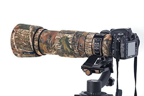 ROLANPRO #10 New Brown Jungle Camo Lens Clothing Camouflage Rain Cover for Nikon AF-S 200-500mm f/5.6E FL ED VR Camera Lens Protection Sleeve