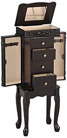 Antique Espresso Finish Jewelry Armoire Lingerie Chest Cabinet Box Storage -Set - Thermos Bbq Grills